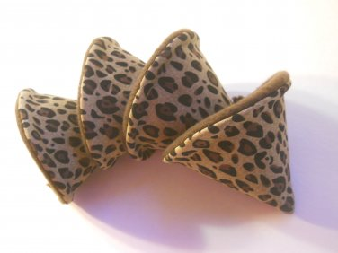 Pee Wee Tinkle Tents / Diaper Bag Accessory / Boy Baby Shower Gift / Set of 4 / LEOPARD PRINT