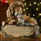 "10.5"" LION AND LAMB PRAYER STATUE/FIGURINE~CATHOLIC/CHRISTIAN GIFT~JESUS~SPECIAL"