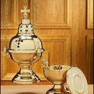 HANGING CHURCH CENSER W/12 BELLS & BOAT SET~EASTERN RITE~BYZANTINE~CATHOLIC