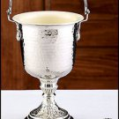 """14"""" SILVER PLATED HOLY WATER POT W/ SPRINKLER SET FOR CHURCH/HOME ALTAR~CATHOLIC"""