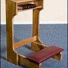 PADDED PRAYER KNEELER~PECAN STAIN ~HANDCRAFTED SOLID MAPLE~PRIE DIEU