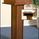 LECTERN W/SHELF~HANDCRAFTED SOLID MAPLE WOOD/WALNUT OR PECAN STAIN~PULPIT~PODIUM
