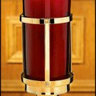 SANCTUARY LAMP W/RUBY GLASS GLOBE~RELIGIOUS CANDLEHOLDER/CANDLE HOLDER~CHURCH