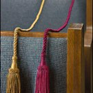 SET OF FOUR WEIGHTED RESERVED/RESERVE PEW ROPES/TASSELS~GOLD OR BURGUNDY~CHURCH