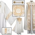 JACQUARD COPE & HUMERAL VEIL SET~VESTMENT~CHASUBLE~CATHOLIC PRIEST~CLERGY