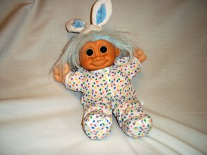 "12"" EASTER BUNNY TROLL BY ©RUSS BERRIE Doll Plush Toy"