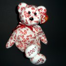 2006-2007 Stuffed Bear The Beanies Baby Collection® Candy Canes ™Ty© Plush Animal