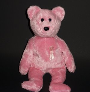 "8.5"" Stuffed Toy Awareness ©2006 Ty© Pink Bear Plush Collectible"