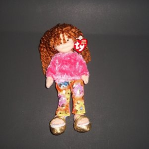 """Snazzy Sabrina 2002 Doll Stuffed  8"""" Plush Toy Teenie Beanie Boppers Collection® Ty©"""