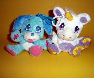 Wuggle Pet 2011 Plush Puppy Dog Unicorn Clip-On Toy Animal