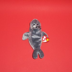 "6"" 1998  Collectible Stuffed Slippery The Seal Beanie Babies Collection by Ty®"