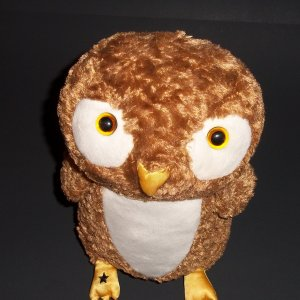 """10"""" Seated position Owl   2006 ®Manhattan Toy Plush Hard to Find!"""