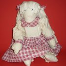 """Handmade Doll 18 """" Primitive Doll and Clothes are Hand Sewn Decoration"""