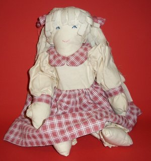 "Handmade Doll 18 "" Primitive Doll and Clothes are Hand Sewn Decoration"