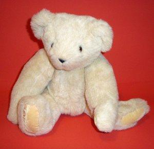 "15 "" Authentic Vermont Teddy Bear Company® Buttercream Plush Eyes Logo Born In Vermont Toy"