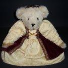 """Authentic Teddy Bear Vermont® Girl Renaissance Red Velvet Logo Eyes Born in Vermont 15"""" Doll Plush"""