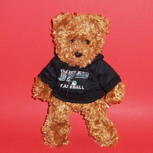 "8"" Marlins Baseball Team Beans Authentic Teddy Bear Fans Hobbies Plush Stuffed"