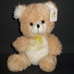 "Teddy Bear Plush Mart Mellow Apricot White Like Soft Toy 10"""