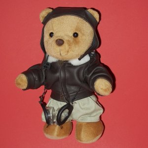"8"" Teddy Bear Metro Soft  Plush Toys Pilot England"