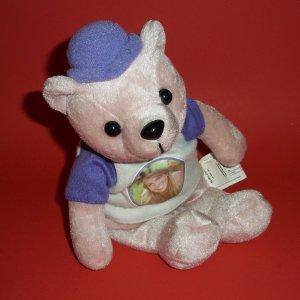 """©2000 Britney Spears 9"""" Pink Teddy Bear  Plush Stuffed Toy Doll Animal"""