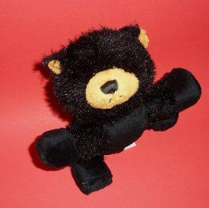 "6.5"" LIL� KINZ BLACK BEAR HS004 Soft Plush GANZ Webkinz"
