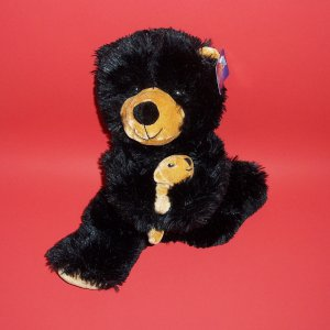 "Black Bear Plush Toys Goffa Int'l Corp 15 "" Soft Stuffed Animal"