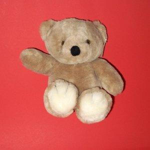 """Lucky Plush Toy Inc. Tan Teddy Bear Stuffed Animal 11"""" Seated Position"""