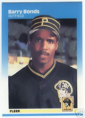1987 fleer barry bonds rookie card great condition