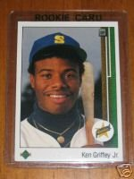 1989 upper deck ken griffey junior rookie card excellent condition