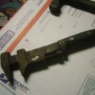Antique solid bar pipe wrench