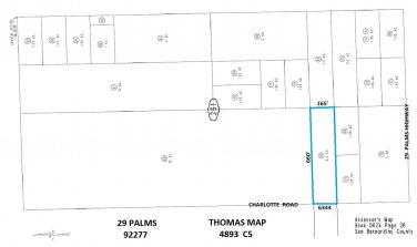 2.5 Acres BEST OFFER Charlotte Rd, 29 Palms across from 6344 Charlotte