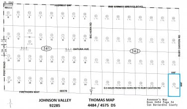 Five Acres Firethorn Wy / Ruby Canyon Rd, Johnson Valley