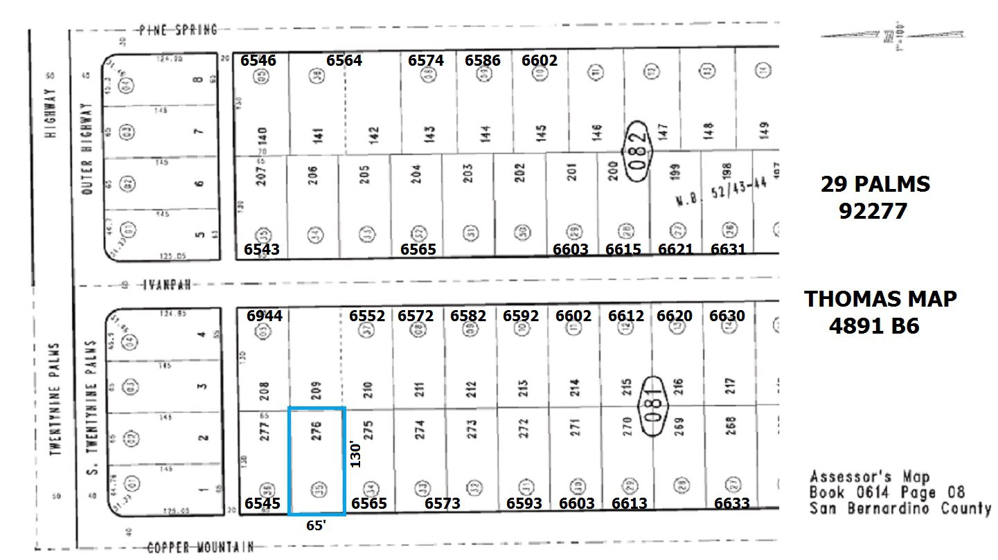 65' X 130' Lot on Copper Mountain Road, Indian Cove SOLD