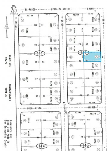 Residential Lot Between 6136 and 6162 Chia Avenue, 29 Palms