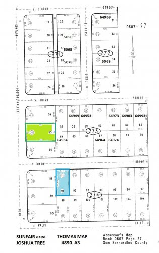 90' of Frontage Sunfair Rd btwn 3rd St S  & Tonto Joshua Tree area (Middle of block) OFFER PENDING