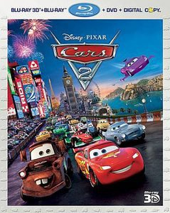 Cars 2 (Blu-ray 2011, 4-Disc Set, Includes: Digital Copy; 3D)
