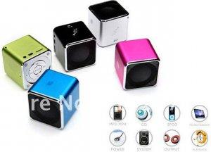 Music angel Speakers, mini speaker, portable speakers for TF card w/FM, MD07