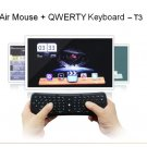 2.4G Mini 2.4GHz Fly Air Mouse  T3 Gyro Sensor Wireless Keyboard For Mini PC Android TV Box