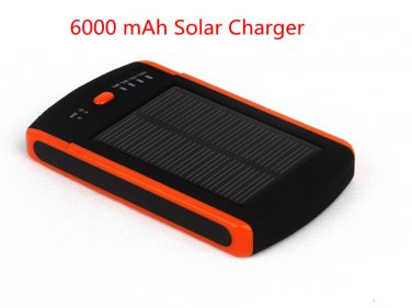 Portable Solar Charger 6000mAh Mobile Power Bank Dual USB Output Fast Charging for Cell Phone ipad