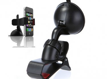 Rotating 360 Degree Car Mount Bracket Holder for iPhone Cellphone GPS MP4 PDA