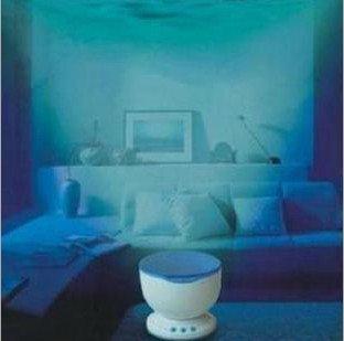 Ocean Sea Waves LED Night Light Projector Speaker Lamp