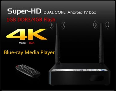 Measy B2A Android 4.1 TV Box 3D Blue-ray Media Player 4K*2K Ultra HD Dual-core CPU 1G DDR Wifi
