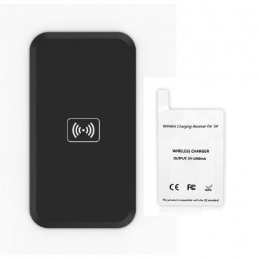 Qi Standard Wireless charger charging Pad MC-02A  with receiver for SAMSUNG Galaxy S4
