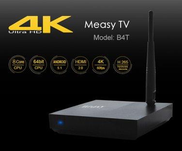 Measy B4T Android 5.1 4K Ultra HD TV Box Octa Core 1G RAM 8G ROM KODI H.265 Media Player