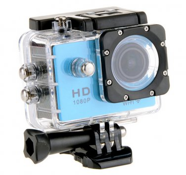 WiFi Sports Camera 1080P Full HD 12MP Waterproof DV Action Video Recorder W8 Gopro SJ4000 Blue