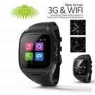 X01  Bluetooth 4.0 Waterproof Wifi GPS SIM Card 3G Smart Phone Watch Heart Rate Wristwatch black