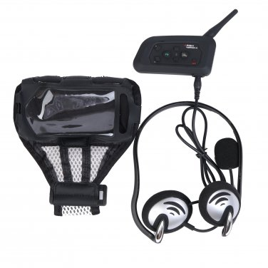 Bluetooth 3.0 Skiing Bicycle Riders Helmet Wireless Intercom Interphone Headset Support Max 4 Users
