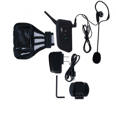 1 to 5 Users Bluetooth 3.0 Wireless Intercom Interphone with FM Radio for Referee Snowmobile Helmet