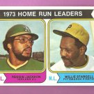 1974 Topps # 202 Home Run Leaders Reggie Jackson Willie Stargell 74 NM - NM/MT