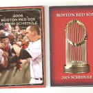2005 And 2006 Boston Red Sox Schedules  Mint